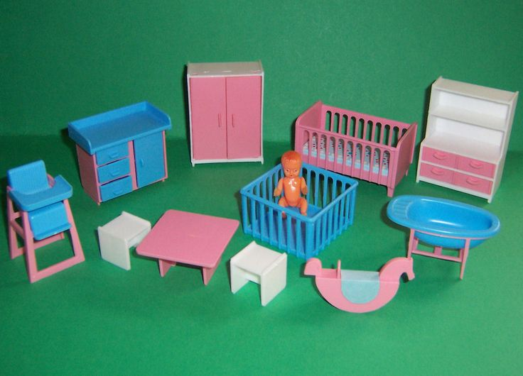 VINTAGE DOLLS HOUSE 16th JEAN WEST GERMANY NURSERY ROOM SET | eBay