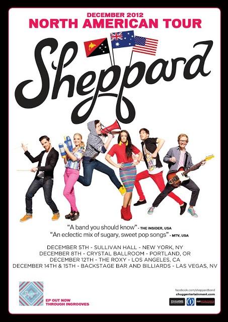 Brisbane Australia's Sheppard announces December 2012 North American Tour