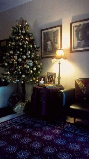 Yiayia's home!! #Half christmas tree! Decoration! Her point of view to decorate the christmas tree! I love her!!!