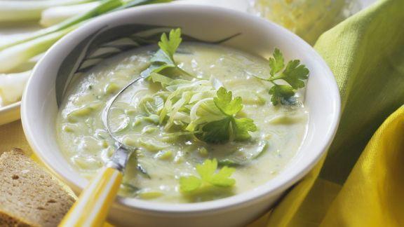 Rezept: Lauch-Frischkäse-Suppe