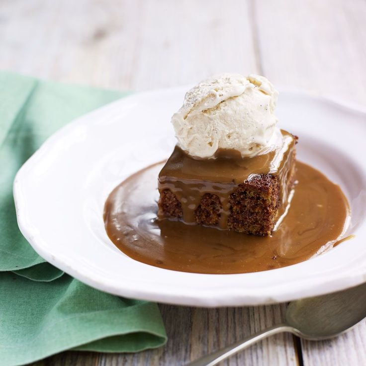 You won't be able to resist our decadent sticky toffee pudding.