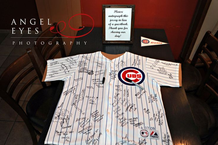 Cute idea for a guestbook if we have the reception at Wrigley.
