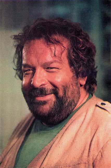 Bud Spencer - we loved his movies growing up, we always thought our dad kin of looks like him