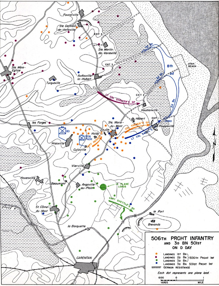 battle map of d-day