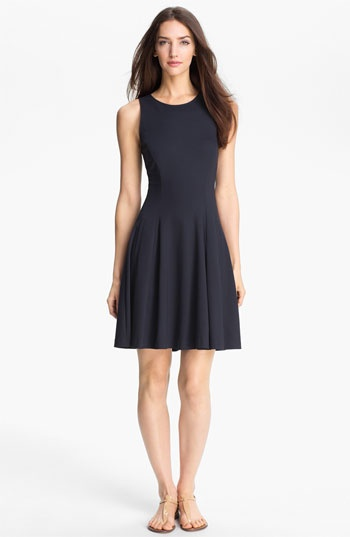 Theory 'Panoa' Stretch Fit & Flare Dress available at #Nordstrom