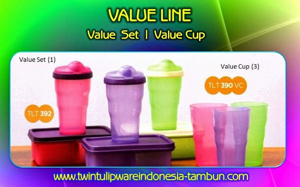 Value Set & Value Cup - Produk Baru #Tulipware 2014