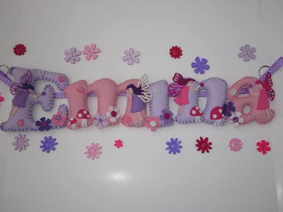 Personalised FAIRIES THEMED Name Banner by WillowMoonShop on Etsy, £12.00