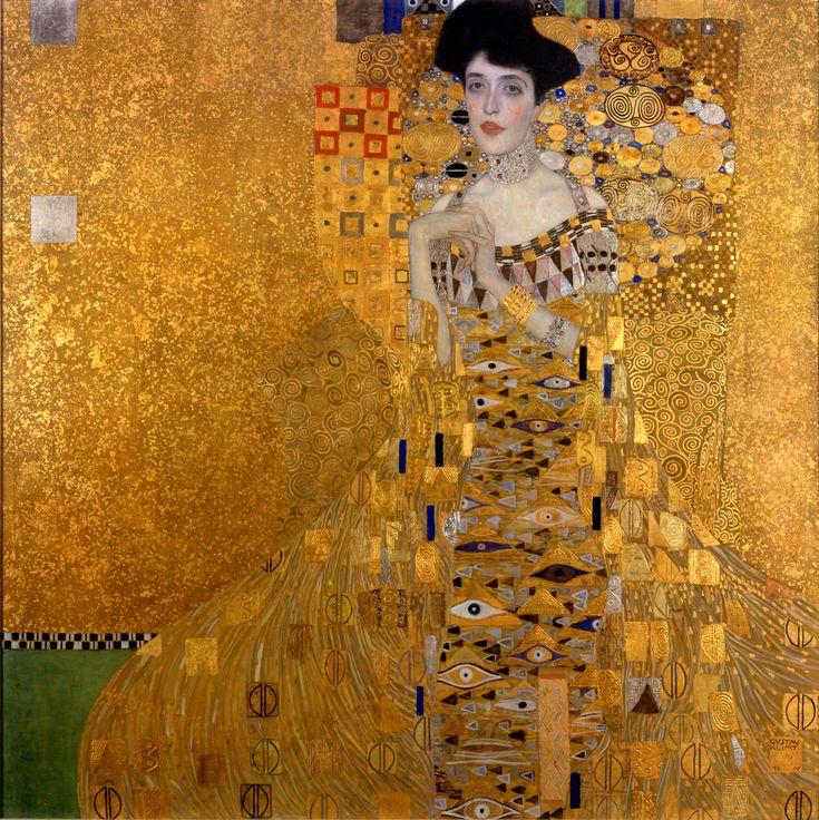 Adele Bloch-Bauer I - Gustav Klimt Öl, Silber und Gold auf Leinwand, 138 × 138 cm Neue Galerie (New York)