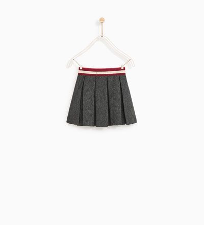 Image 5 of PLEATED SKIRT WITH SHIMMERY ELASTIC WAISTBAND from Zara