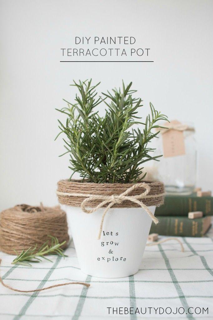 Diy Painted Terracotta Pot - The Beautydojo