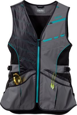 Go to the range and keep your essential gear secure and at the ready. Cabela's Women's New Era Shooting Vest is contoured for females and has plenty of waist adjustment so you get a perfect fit every time.  Sizes:  S-3XL.  Color:  Timberwolf Grey.