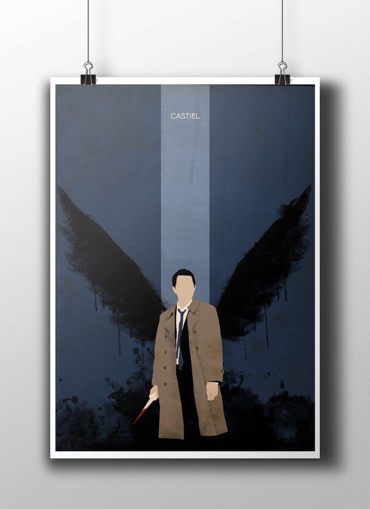 Castiel Supernatural Poster Print by NebulaPrints on Etsy https://www.etsy.com/listing/217434007/castiel-supernatural-poster-print
