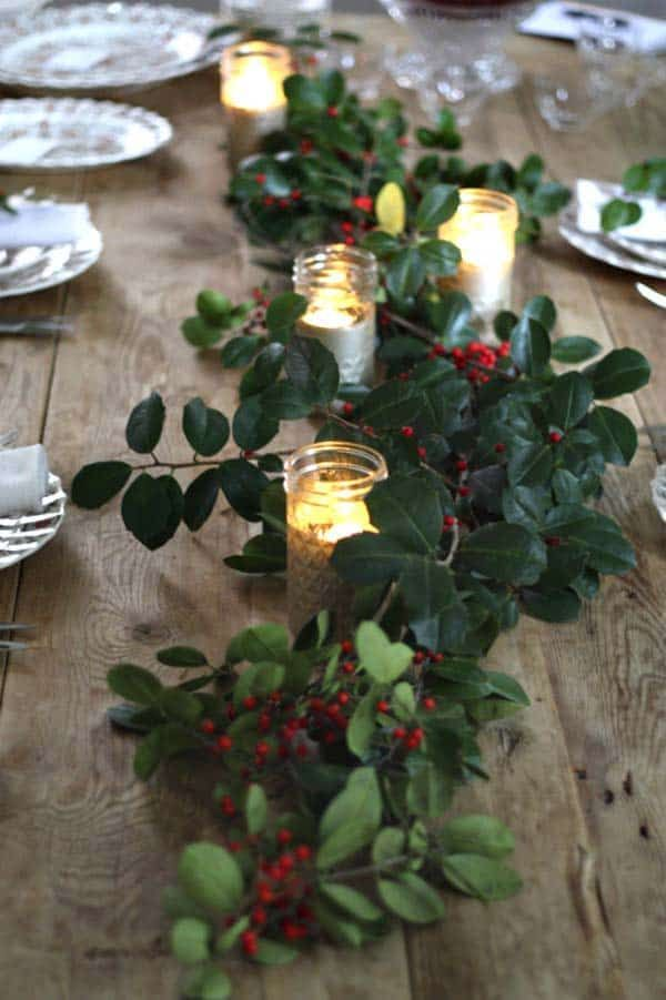 30 Absolutely Stunning Ideas For Christmas Table Decorations Winter Table Decorations Rustic Wedding Table Christmas Table Settings