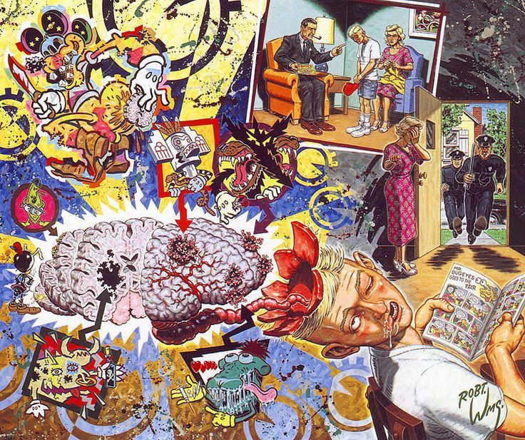 Forum   Psychedelic Psychonauts   Robert Williams – Abstract & Psychedelic at its finest   Way Too Baked