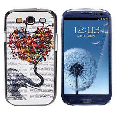 Olifant liefde hardcase hoesje voor Samsung Galaxy S3