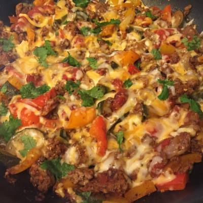 21 day fix Ground Beef Taco Skillet