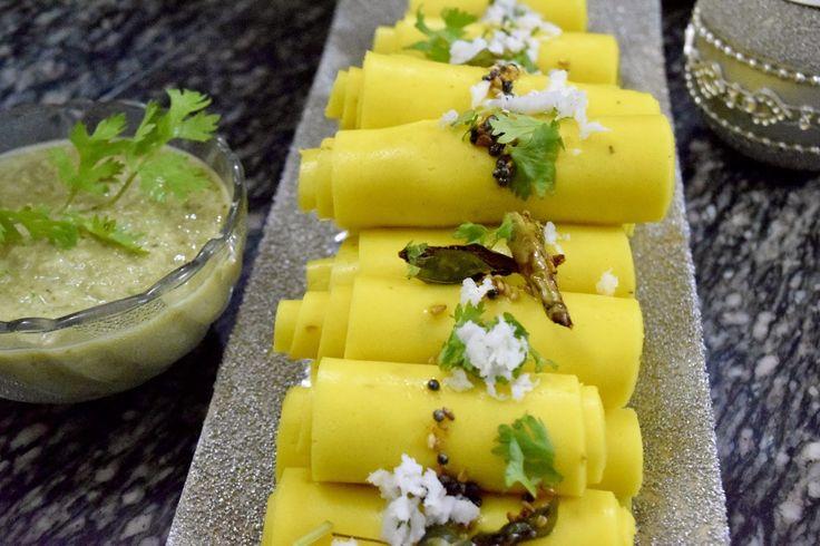 Poorni's Easy Cookbook: Khandvi/ Dahivadi/ Khaandvi/ DahiWadi ~~Gujarati R...