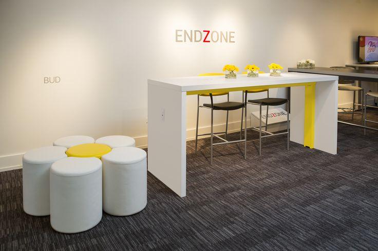 Spec Furniture Showroom, Bud Collaboration Stool, EndZone Table | #NeoCon16