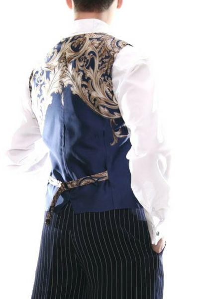 Men's dark blue tango vest with satin back  #tangovest #menstangoclothes #argentinetango