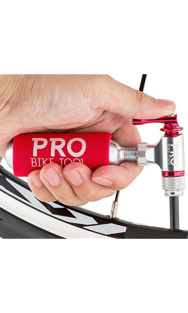 Bike CO2 Inflator Quick Easy Tire Pump Presta Schrader Valve Compatible
