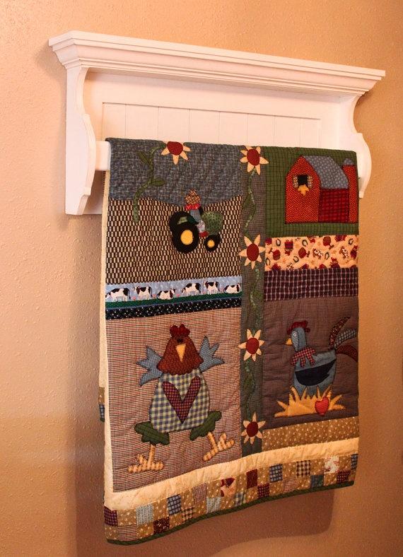 Quilt (rack) Shelf by dustinshelves on Etsy,
