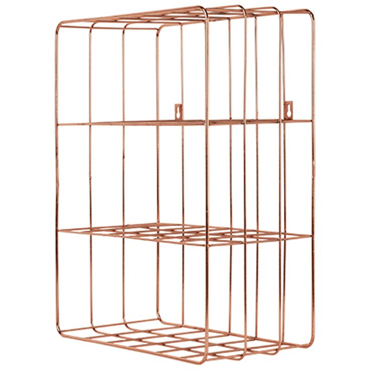 Bendt Wire Wall Unit, Copper from Made.com. NEW Express delivery. Clutter - get it together. This industrial-style wire storage collection includes ..