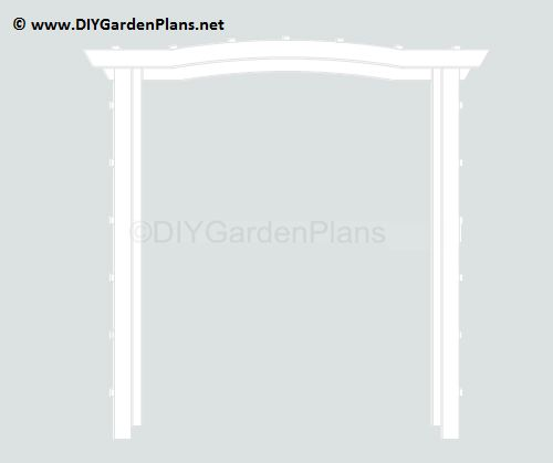 easy plans for an arbor with detailed instructions and supply list