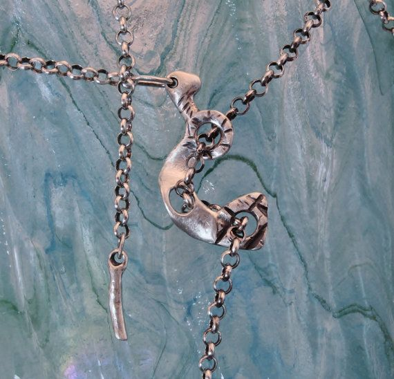 In The Details  Triple Looping  Rolo Chain Lariat  by SilverEdit