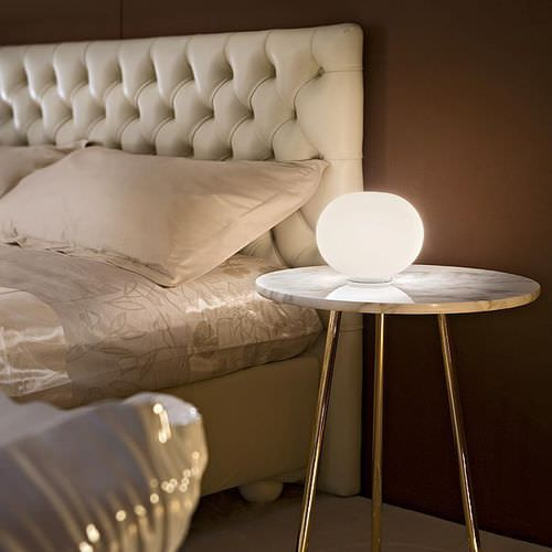 Contemporary blown glass table lamp by Jasper Morrison GLO-BALL BASIC ZERO  FLOS