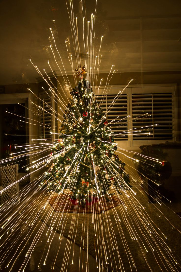 Picture of a Christmas tree taken while zooming out. Nice.