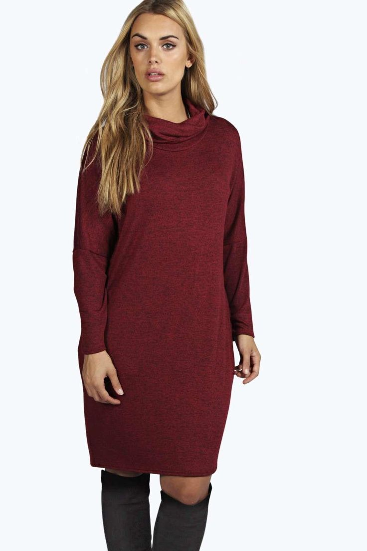 Plus Maria Oversized Long Sleeve Slouchy Dress
