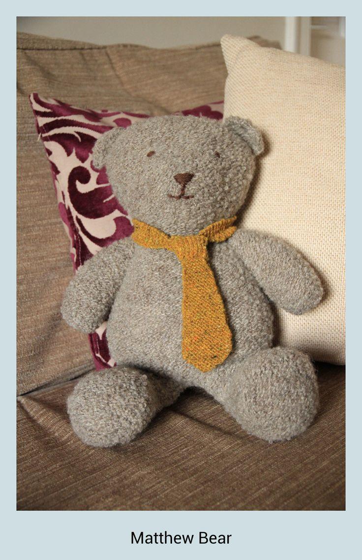 Matthew Bear #knitted #teddy #bear #Rowan
