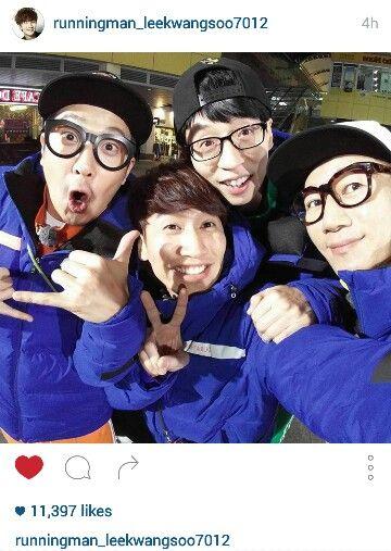 21122015 - #runningman family today's filming. #yoojaesuk #kimjongkook #jisukjin #kanggary #songjihyo #haha #leekwangsoo