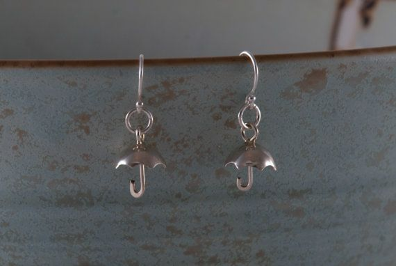 Sterling Silver Miniature Umbrella Earrings  by VesnasSpringMix, $51.00