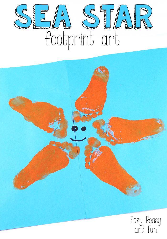 Starfish Footprint Art