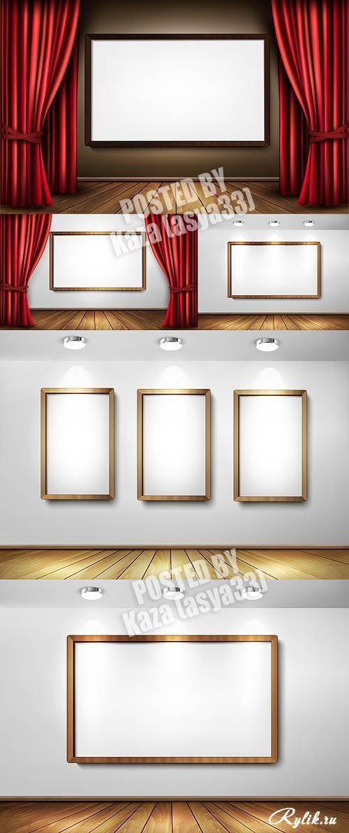 Рамки и галерея - векторный клипарт. Frames and gallery