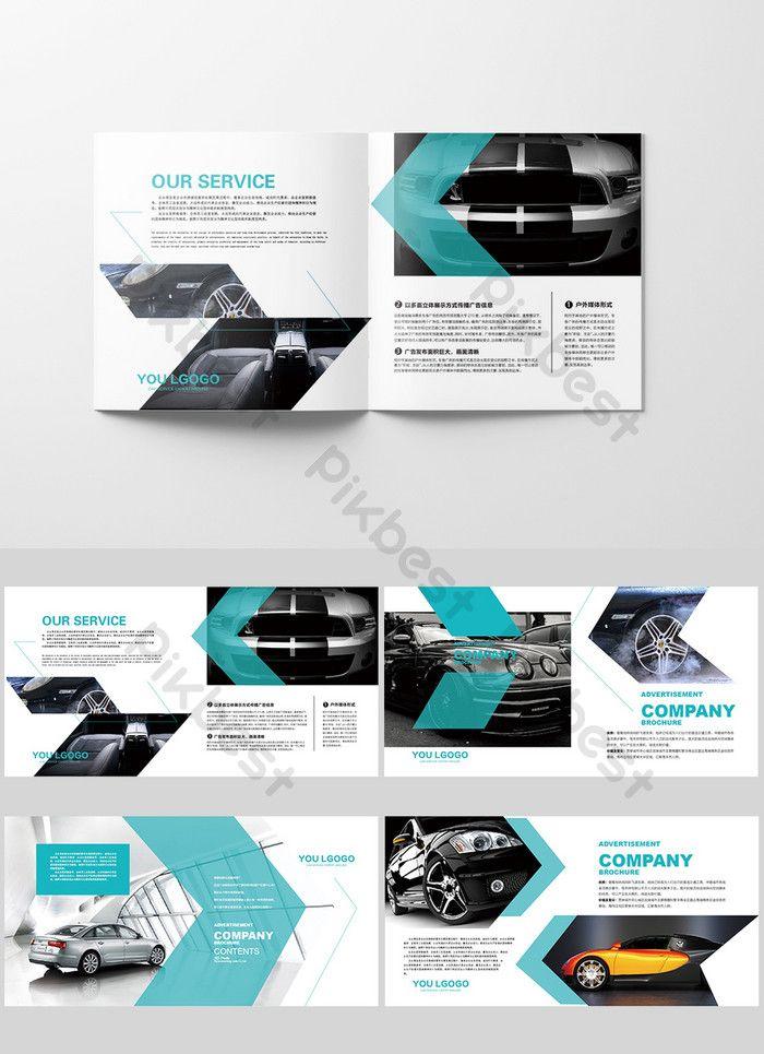 Creative Blue Car Broschüre Corporate Branding Broschüre Typografie