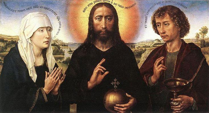 Rogier van der Weyden (1399 — 1464). Триптих семьи. Брак (деталь)