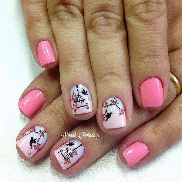 Resultado de imagen para birds design nails