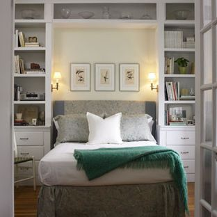 Could do something like this around the bed?