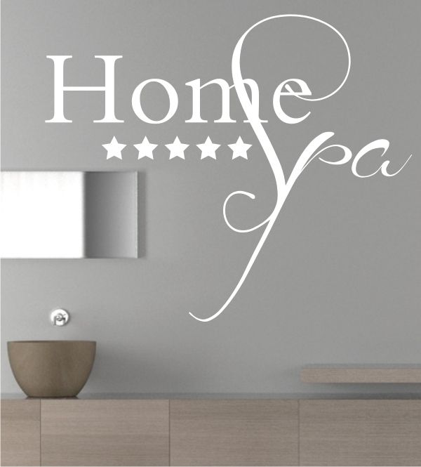 Perfect Home Bad Badezimmer Wandtattoo Wandtattoos Wandsticker Spa