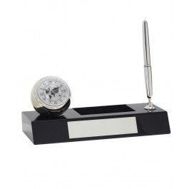 Set accesorii birou cu ceas si pix - London Clock