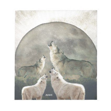 Aegis Wolves Notepad - photo gifts cyo photos personalize