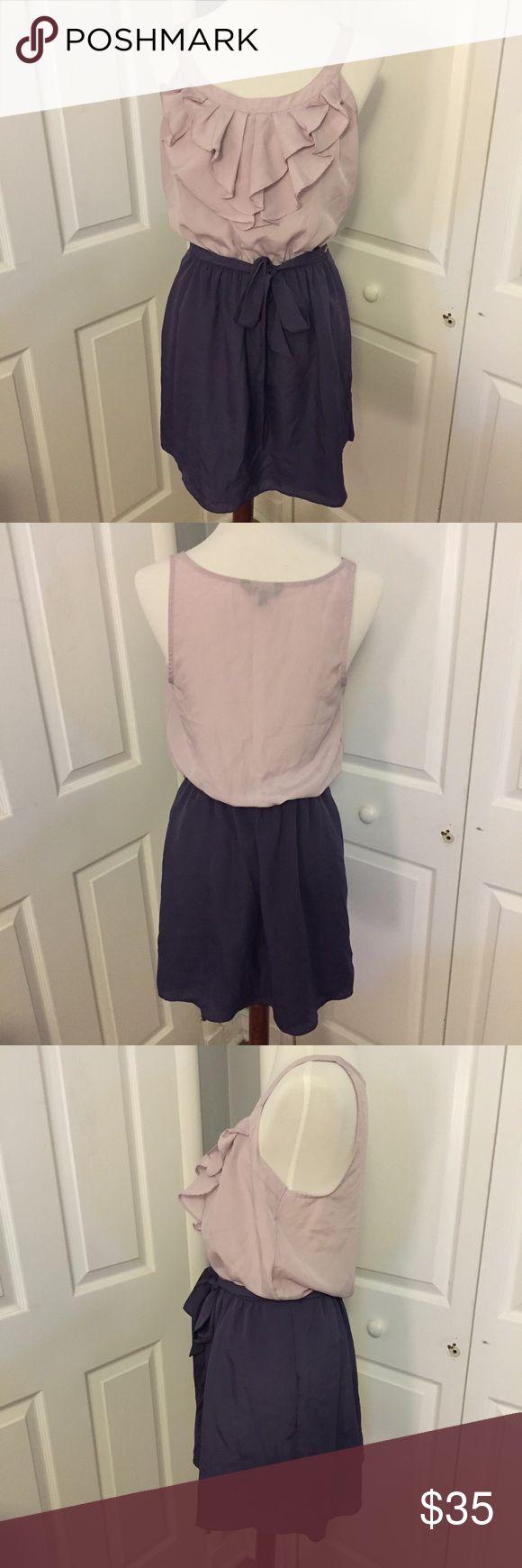 Express Purple Ruffle Block Dress. Size M. Express Purple Ruffle Block Dress. Size M. Express Dresses