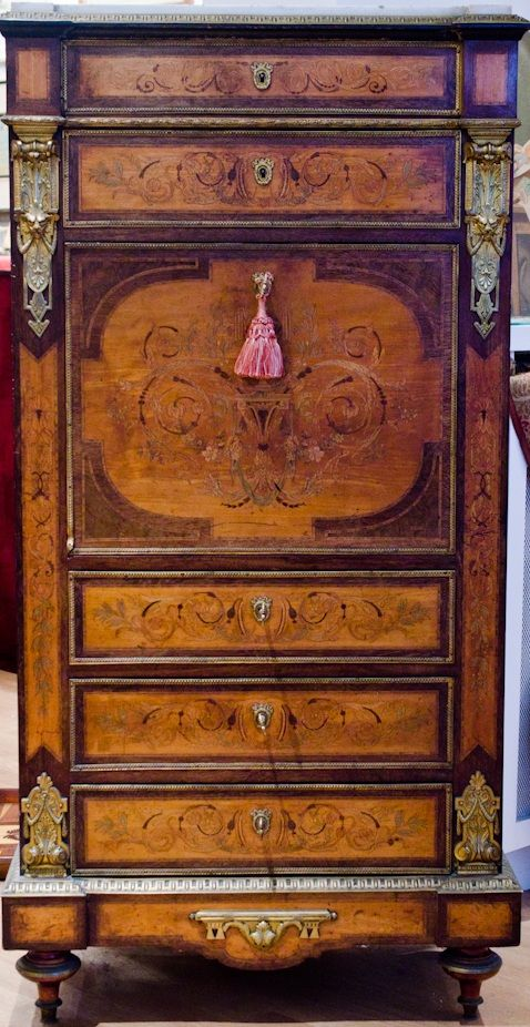 Very rare and beautiful stamped Secretary Charles Guillaume Diehl  (1811-1885) - 188 Best Furniture Images On Pinterest Antiques, Antique