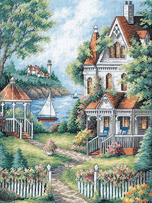 Cove Haven Inn Cross Stitch Kit