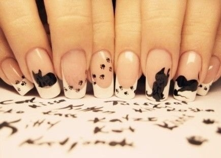 Black cat nails!!! ahh I want to do this!Kitty Cat, French Manicures, Nails Design, Catlady, Crazy Nails Art, Crazy Cat Lady, Cat Nails, Cat Lovers, Black Cat
