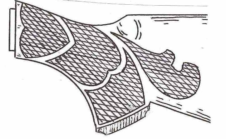 Wood gun stock carving patterns standard buttstock style
