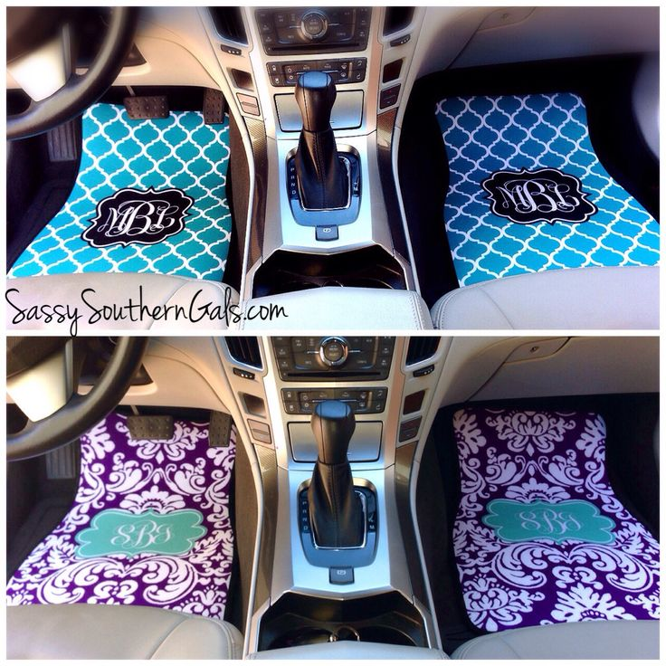 Monogrammed Car Mats on SassySouthernGals.com Monogrammed Car Accessories make a great sweet sixteen birthday gift idea! Choose from over 50+ patterns and colors.