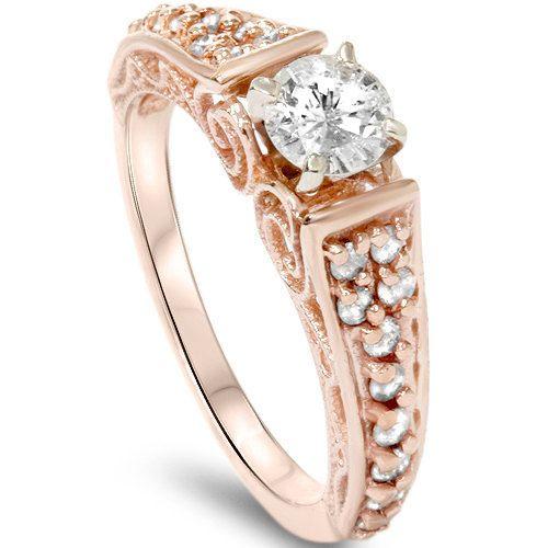Item #ENGS4401ERSE.6Width:3.2 mmMetal: 14k Rose GoldDiamond Cut: Round, BrilliantDiamond Color: H/IDiamond Clarity: I1-I2Diamond Carat: Diamond
